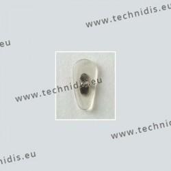 Plaquettes type B+L 17 mm - acétate - cristal - 5 paires