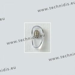Plaquettes à clipper 20 mm - inserts dorés- acétate - 10 paires