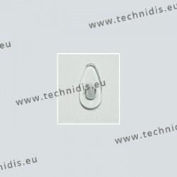 Plaquettes type B+L 15 mm - silicone - 5 paires