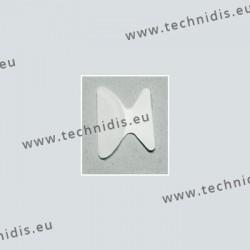 Plaquettes anti-glisse pour montures plastiques - cristal