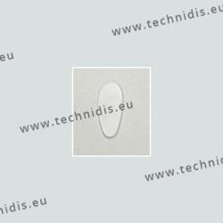 Plaquettes autocollantes 15 mm en silicone