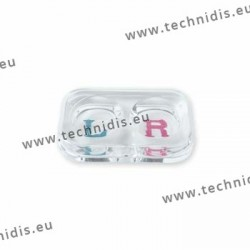 Contact lens dispensing tray