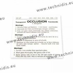 Feuille d'occlusion inf. 0,1 - 1 pièce