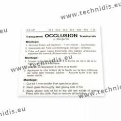 Feuille d'occlusion 0,0 (opaque) - 3 pièces