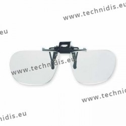 Spring flip up glasses - large model - AC lenses + 3.0