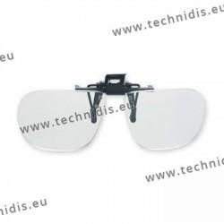 Spring flip up glasses - large model - AC lenses + 3.0