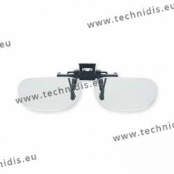 Spring flip up glasses - half frame model - AC lenses + 3.0