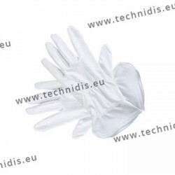 White microfiber gloves - 26 cm