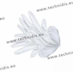 Gants blancs en microfibre - 26 cm