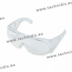 Protective goggles in crystal polycarbonate