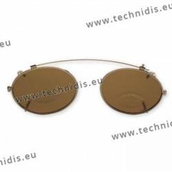 Clip ovale - 50 x 38,5 - non polarisé - cerclage doré