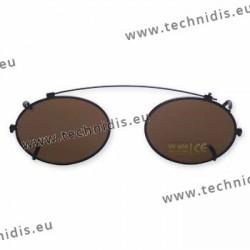 Clip ovale - 46 x 36,5 - non polarisé - cerclage noir