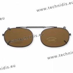 Rectangular clip - 50 x 36 - polarized - grey hooping