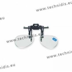 Spring flip up glasses - small model - AC lenses + 1.0