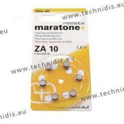 Piles pour appareils auditifs n° 10