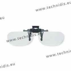 Spring flip up glasses - half frame model - AC lenses + 2.5