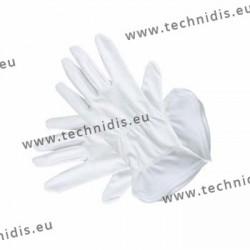 Gants blancs en microfibre - 28 cm