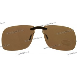 Sun clips with mini mechanism - Brown - Small size