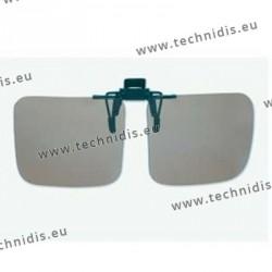 Polarized spring flip up glasses - plastic mechanism - large size - grey