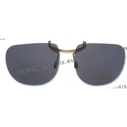 Slip-on glasses with central hooks - grey