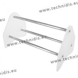 Râtelier à pinces - 120 mm - blanc