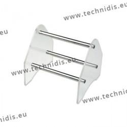 Râtelier à pinces - 120 mm - cristal