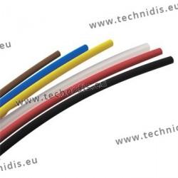 Gaines rétractables en PVC - Ø 3,2 mm - noir