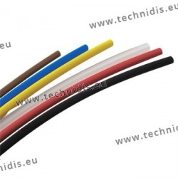 PVC heat shrink tubes - diameter 2.4 mm - black
