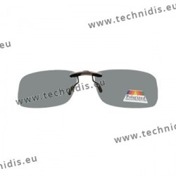 Sun clips with mini mechanism - Grey - Rectangular form