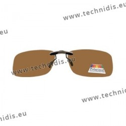 Sun clips with mini mechanism - Brown - Rectangular form