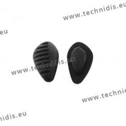 Ridged triangular nose pads