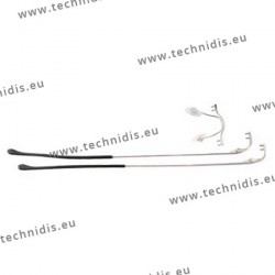 Rimless assembly, stainless steel - short points