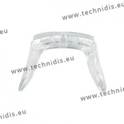 Screw-on saddle bridge in non allergenic silicone