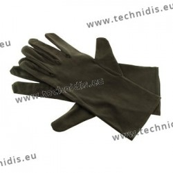 Black microfiber gloves - 28 cm