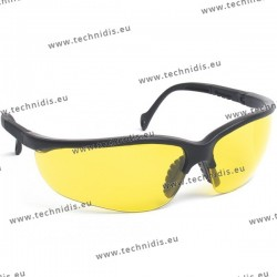 Protective glasses with yellow lenses