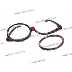 Make-up glasses, 2 tilting lenses +2.5